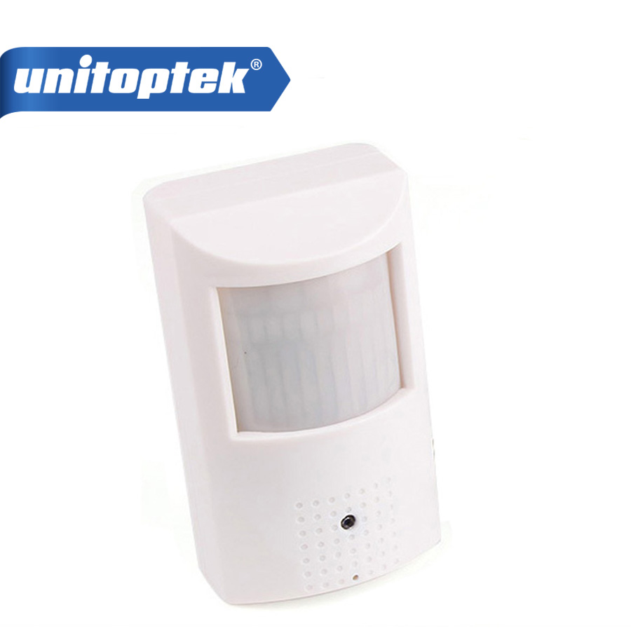 UNITOPTEK PIR Style HD 1080P 2MP IP Camera With POE Realtime Wired Wide View Angle 3.7mm Lens P2P/PC/CMS/Mobile View<br>