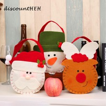Exquisite Christmas Gift Bag Holders Snowman Deer Santa Claus Bag Christmas Candy Bag Christmas Decorations(China)