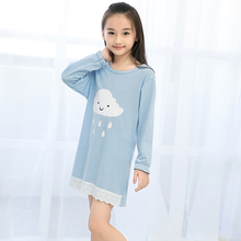 Buy Girls Nightdress New 2017 Autumn Winter Fashion Princess Cartoon Dresses Kids Sleep Dress Cotton Children Nightgowns Clothes for $8.44 in AliExpress store