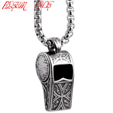 BLEUM CADE 316L Stainless Steel Whistle Pendants Necklaces Length Chain 24""