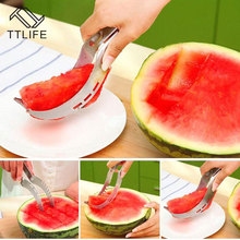 TTLIFE Mini Stainless Steel Melon Slicer Watermelon Cutter Slicer Corer Knife for Watermelon Kitchen Tools Fruit Knife