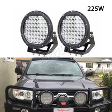 free shipping 2pcs 225W ARB round LED driving light for off road wrangler 4x4 powersports boat dune buggy 4WD vehicles work lamp(China)