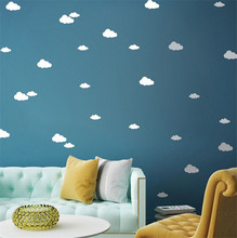 1 SET DIY Wall Simple And Creative Multi-size Clouds Removable Wall Stickers for kids room living room decor sticking(China)