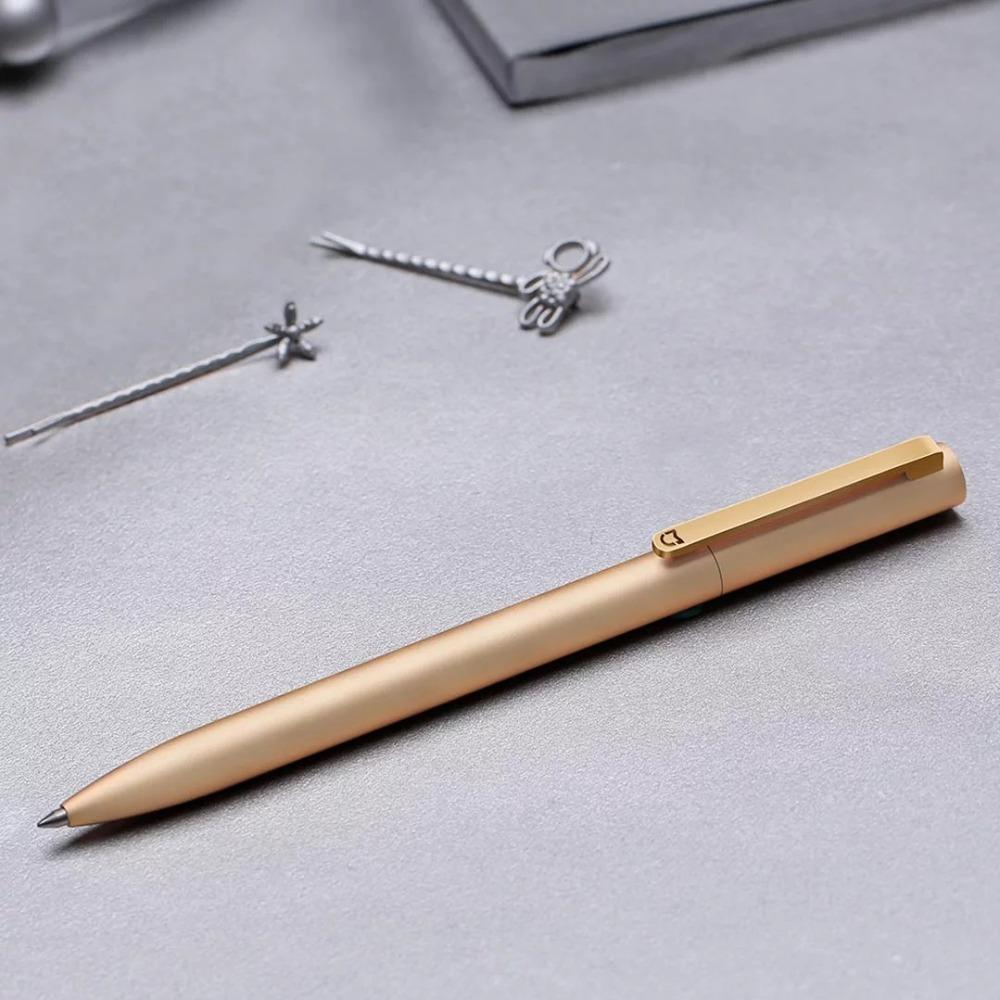 New-Original-Xiaomi-Mijia-Metal-Sign-Pen-9-5mm-Signing-Pen-PREMEC-5 Smooth-Switzerland-Black-Refill