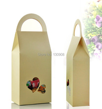Joy Size 11*5*23cm  DIY paper  chocolate packaging boxes with handle ,handbag shape gift paper packing box