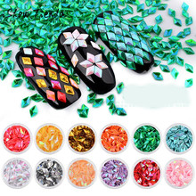 12 Box Diamonds Dazzling Tips Nail Sticker Sequins Colorful Nail Art Decoration(China)