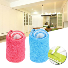 Reusable Microfiber Spray Mop Head Floor Cleaning Cloth Paste The Mop To Replace Cloth Household Cleaning Mop Accessories(China)