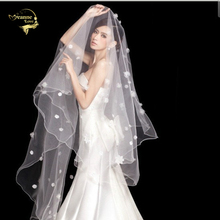 300cm Long !  Wholesale Pearl Flower Free Shipping ! Hot Sale ! Bridal Veil Wedding Veils BRIDAL ACCESORIES Flower VEIL OV9992
