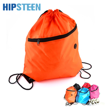 HIPSTEEN New Fashion Women Polyester Drawstring Backpack Solid Color School Backpack Girls Bookbag Sport Pack Pouch Blosas Bag(China)