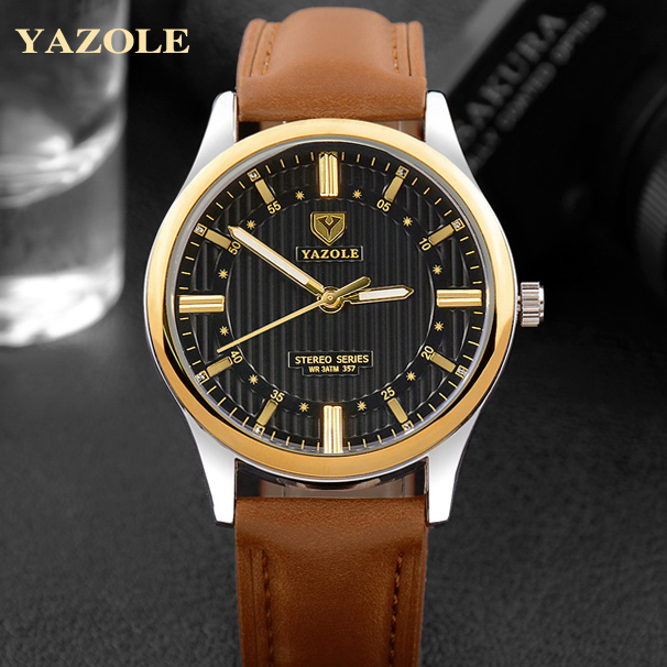 YAZOLE Business Wrist Watch Men 2017 top Male Quartz Wristwatches Relogio Masculino free shipping watchbands<br><br>Aliexpress