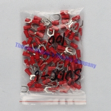 SV1.25-6 Red Terminal Cold pressed terminals Cable Wire Connector 100PCS/Pack spade crimp spade terminal connector SV1-6 SV