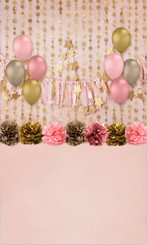 Gold Star And Balloon photo backdrop High-grade Vinyl cloth Computer printed custom Photography Backgrounds<br><br>Aliexpress
