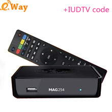 MAG254 Italy Iptv Box Arabic Europe ip tv iudtv For Spain Portugal Turkish Netherlands uk de Channels Linux MAG 254 Set Top Box