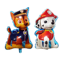 Free Shipping 1pcs/lot Brave Dogs Patrol Marshall & Chase Foil Balloons Kids Toys Birthday Party Decoration Balloons(China)