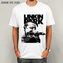 Lincoln Linkin Park Rock Printed Men's T-Shirt T Shirt For Men Short Sleeve Cotton Casual Top Tee Camisetas Masculina(China)