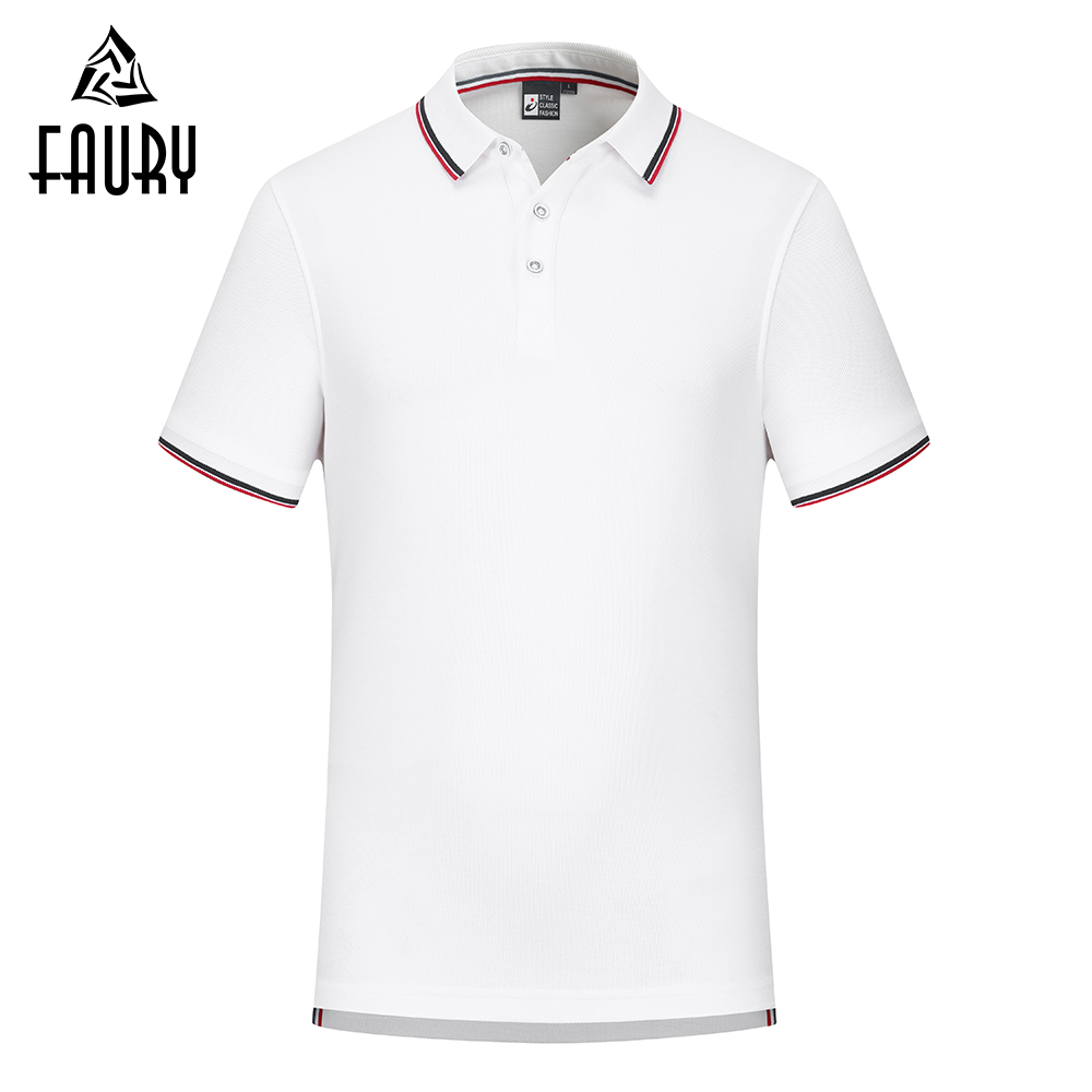 High Quality Polo Shirt Women Men Cotton Short Sleeve Shirt Jerseys Summer Breathable Solid Male Polo Top Cafe Work Clothes
