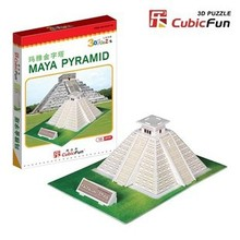 candice guo! 3D puzzle toy CubicFun paper model S3011 mini Maya Pyramid 1pc(China)