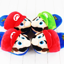 2style Classic Games Super Mario Soft Slippers Mew Winter Indoor Plush Slippers Unisex Warm Home Slippers Shoes(China)