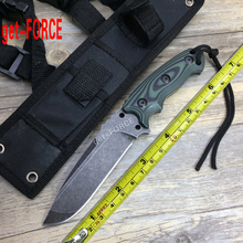 get-FORCE 5Cr15Mov Outdoor Tactical Knife,Full Tang ZT Fixed Blade Knife,EDC Survival Jungle Knives,Gifts Hunting Straight Knive(China)
