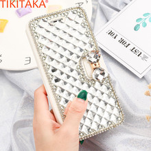 Luxury Rhinestone Women Case Leather Super Glitter Sparkling Diamond Cover Phone Bag Cases For iPhone 5 5s SE 6 6s plus 7 7 plus(China)