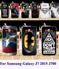 Flexible Silicon Phone Cases For Samsung Galaxy J7 Case 2015 J700F J700 5.5 Cover Marvel Captain American Batman Housing Shell