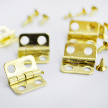 Free Shipping cheap 18set/lot Mini 10mm*8mm dollhouse doll house model accessories small hinge small screw diy doll accessories(China)