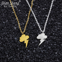 DIANSHANGKAITUOZHE Thunder Clouds Charm Necklaces Weather Happy On A Cloudy Day Unique Charm Necklaces Women Jewelry Party(China)