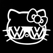 Hello Kitty  Jetta Beetle Gti Window Sticker Sign Vinyl Decal