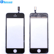 Netcosy Black White Touch Screen Digitizer Touch Panel Display Front Glass Lens for iPhone 5S TouchScreen Replacement Repair