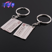A Pair Car Styling Auto Accessories Bank Card Keychain Car Key Ring Holder Gift for Cadillac Buick Citroen Fiat Hyundai Lexus(China)