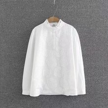 Buy Plus size Lace collar women clothing casual Spring & autumn womens tops blouses 2018 long sleeve solid white lace shirt 4XL for $18.04 in AliExpress store