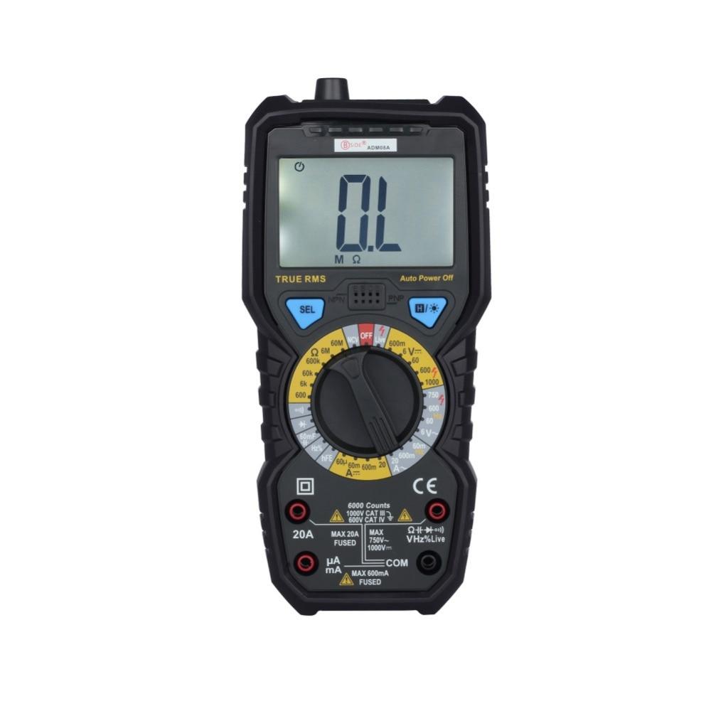 BSIDE ADM08A True RMS Digital Multimeter Capacitance Frequency Meter NCV Color<br>