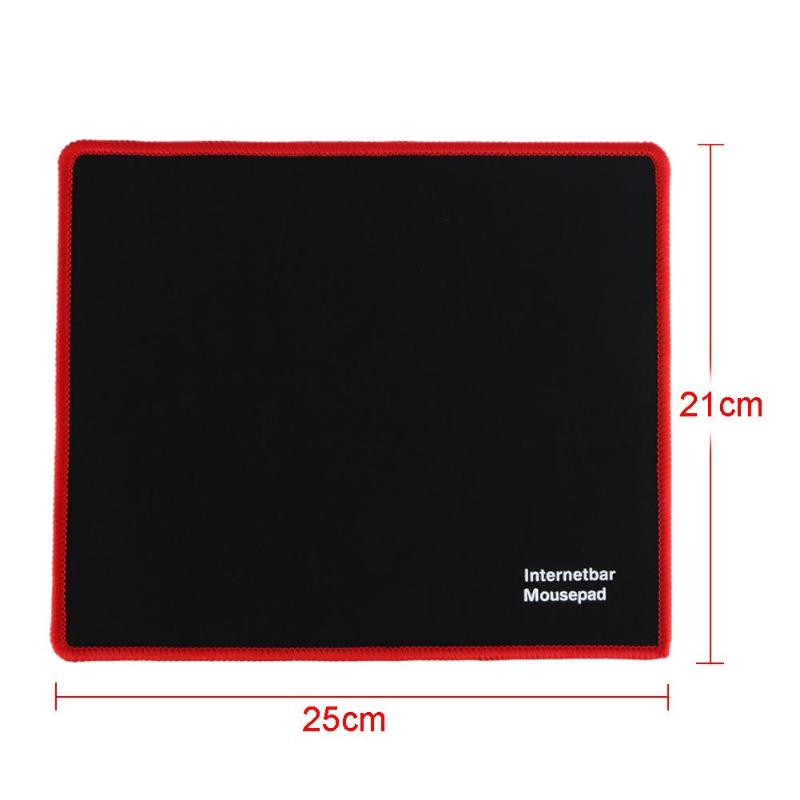 25x21cm Professional Gaming Mouse Pad Solid Color Locking Edge Mouse Mat Anti-slip Natural Rubber Gaming Mouse Mat for PC Laptop 11