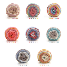 5Pcs/lot DIY Rainbow Yarn Colorful Soft Cotton Yarn For Hand Crochet Knitting Warm Sweater Rugs Yarns 100g/pc DIY Fabric(China)