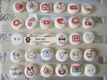 DIY Pure manual accessories Painting  Wooden buttons Colored button Diameter of 15 mm Cartoon pattern 200pcs