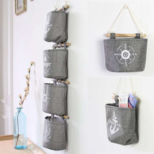 2016 Hot Sale Fashion Home Decor Hanging Hanger Storage Bag Hanger Navy Anchor Wheel Pattern New Arrivals