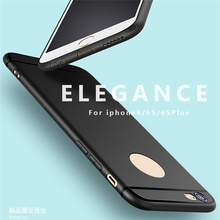 Scrub TPU Cover Case Soft Rubber Mobile Phone Protective Case luxury Cover with Dust Plug for iPhone5 5s SE 6 6s 6splus 6Plus(China)