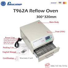 Discount Benchtop T962A Reflow Oven 300*320mm 1500w Infrared IC Heater BGA SMD SMT Rework Sation For SMD SMT