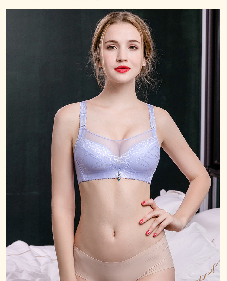 2017 fashion women Bra ultra thin lace fly bra sexy push up underwear women sheer bras female brassiere ladies lingerie B3