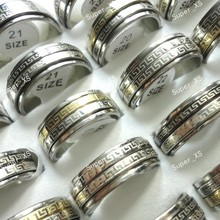 150Pcs Top Wall Pattern Whirligig Stainless Steel Rings lotes al por mayor Wholesale Jewelry Ring Lots RL044