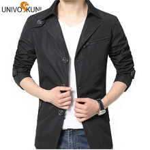UNIVOS KUNI Jacket Mens Spring Summer Thin Men's Veste Homme New Brand Coats Men Slim Fit Jacket Sportswear Windbreaker Z1767(China)