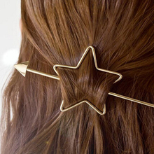 2016 Hair Accessories Gold silver Plated love round Heart Star Hair Clips Hairpin  hair tools for women girls brincos