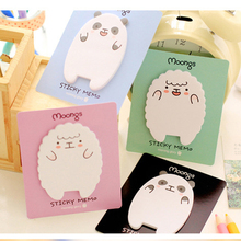 Little Lamb and Bear Creative Sticky Notes Memo Pad Paper Sticker Post It Gift Cartoon Cute Wall stickers Fridge Magnets N times