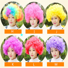5pcs/lot Halloween Grand Event Party Show Curly Clown Hair Wig Masquerade Adult Clown Afro Wig Party Cosplay Costume Fans Wig(China)