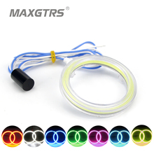 2x 60 70 80 85 90 95mm COB Angel Eye LED Motorcycle Car Light Halo Rings Auto Headlight Fog Car LED Lighting DRL