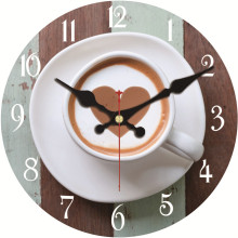 Coffee Mug Design Wall Clock Relogio De Parede Large Silent For Living Room Saat Home Decoration Watch Wall High Quality Gift