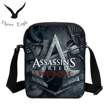 Hynes Eagle New Fashion Game 3D Assassins Creed Printing Messenger Bag Casual Mini Shoulder Bags For Girls Crossbody Bag Mochila