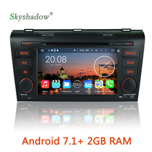 Android 7.1 quad Core 2G RAM Car multimedia DVD Player GPS Map Radio wifi 3G camera OBD BT For Mazda 3 2003 -2006 2007 2008 2009