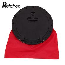 "Relefree 10"" ABS Hatch Cover Deck Plate Kit Waterproof With Red Storage Bag for Marine Boating Kayak Water Sport"
