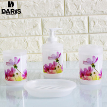SDARISB Bathroom Accessory Sets Soap Dish Dispenser Toothbrush Paste Holder Toilet Brush Set Bathroom Wash Bath Set(China)